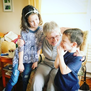 The kids love their Nanny Morry. 91 years old and still going strong.